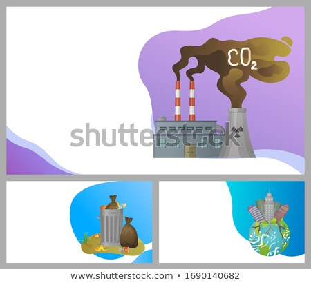 Overpopulation and Waste Disposal Websites Set Stock photo © robuart