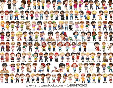 Pessoas diferente nacionalidade vetor diverso Foto stock © robuart