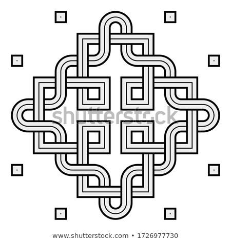 Viking Decorative Knot - Engraved - Interweaved Squares Stock photo © nazlisart