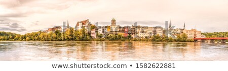 city on the banks of river germany stock photo © borisb17