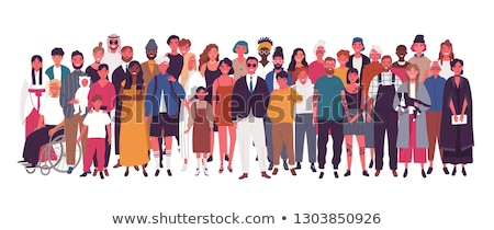 People Portrait, Crowd of Man and Woman Vector Stock photo © robuart