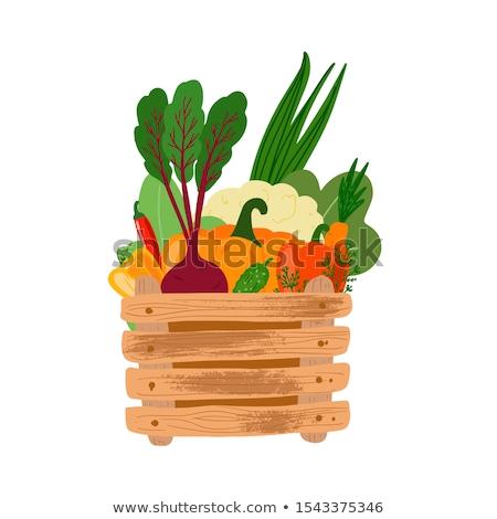 plantaardige · mand · voedsel · vol - stockfoto © robuart