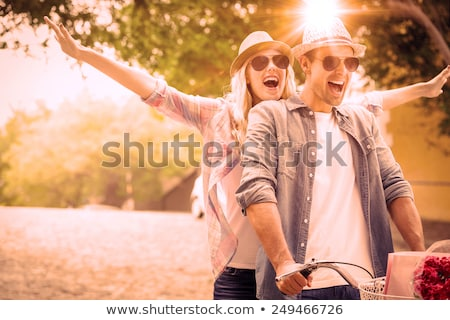 Hip young woman in hat Stock photo © nyul