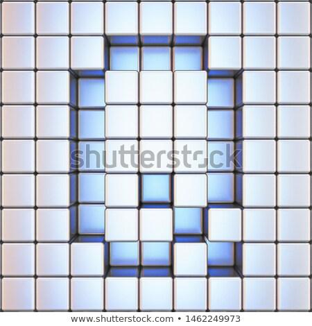 Cube grid Letter Q 3D Stock photo © djmilic