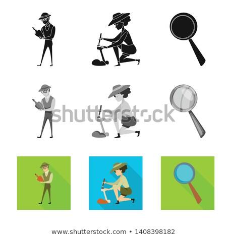 Vadász ikon kézzel rajzolt rajz notebook oldal Stock fotó © netkov1