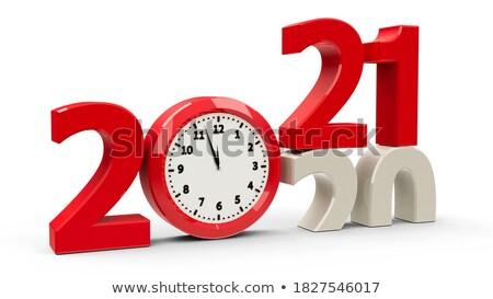 clock dial 2020 half stock photo © oakozhan