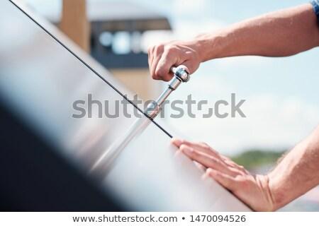Strony technik mistrz stali uchwyt Zdjęcia stock © pressmaster