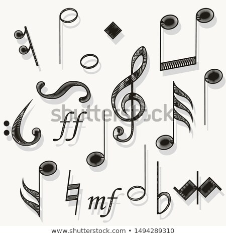 Music notes. Musical notation. Muzician staff treble clef for song. vector Stock photo © Andrei_