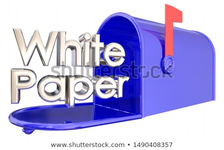 White Paper Research Report Analysis Mailbox 3d Illustration Stock photo © iqoncept