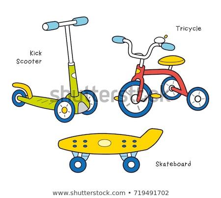 Сток-фото: детей · скейтборде · парка · вектора · мальчики
