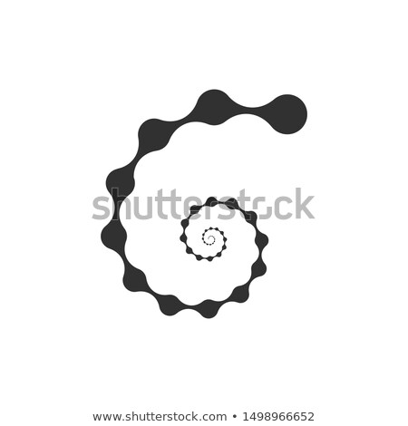Abstract Molecular nanotechnology Spiral structure Logo. Stock Vector illustration isolated on white Stock photo © kyryloff