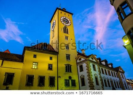 Old bridge tower, Regensburg Stock photo © borisb17