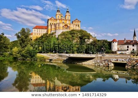 表示 オーストリア 町 教会 修道院 建物 ストックフォト © borisb17