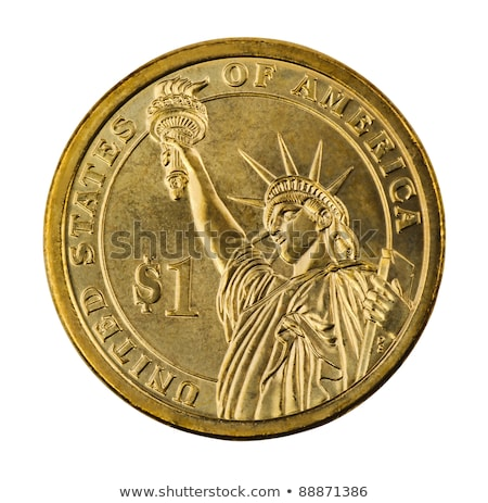 golden dollar coin symbol of american currency stock photo © robuart