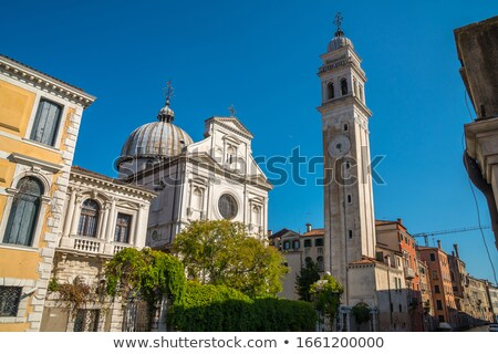 Campanile of church San Giorgio dei Greci in Venice Stock photo © vapi