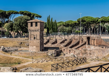 Circus Maximus and Palatine Hill in Rome, Italy