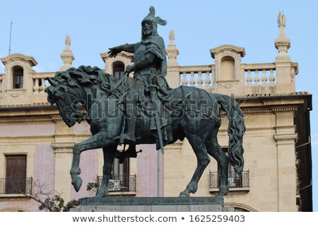 Lovas szobor Valencia Spanyolország kert fa Stock fotó © borisb17