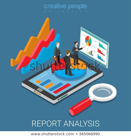Business analytics verslag vector metafoor gegevens Stockfoto © RAStudio