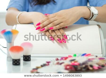 semi-permanent nail polish Stockfoto © adrenalina