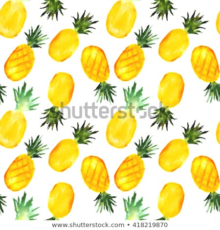 Appetizing watercolor pineapple Stock photo © balasoiu