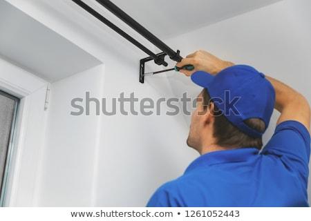 Artesão trabalhando cortina agulha Foto stock © shamtor