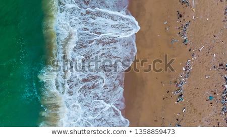 śmieci tropikalnej plaży środowiskowy zanieczyszczenia wody charakter Zdjęcia stock © boggy