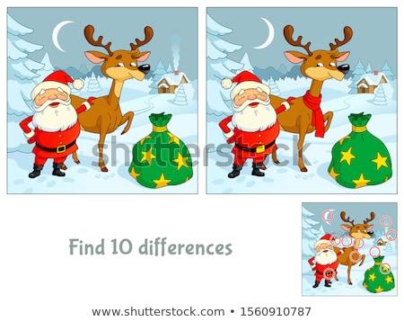 Farklılıklar görev noel baba karikatür örnek Stok fotoğraf © izakowski