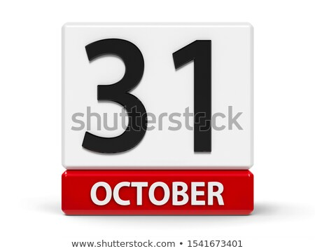 Cubes calendar 31st October Stock photo © Oakozhan