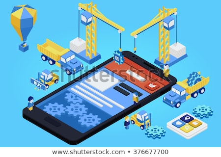 mobile app engineering flat vector illustration stock photo © rastudio