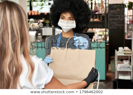 Coffee House Coffeehouse with Barista and Clients Stock photo © robuart