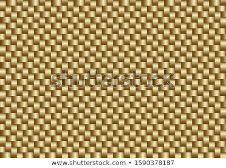 Vector golden carbon fiber seamless background. Abstract cloth material wallpaper for car tuning Stock photo © Iaroslava