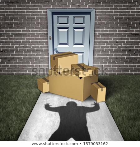 Porch Pirate Stealing Door Packages Stock photo © Lightsource