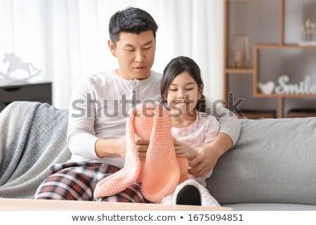счастливым отец мало дочь играет домой Сток-фото © dolgachov