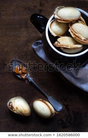 Saboroso caseiro carnaval bolinhos nozes comida Foto stock © laciatek