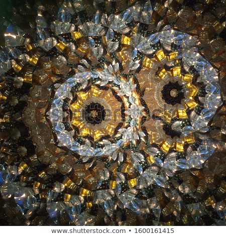 Gemstone or diamond texture closeup and kaleidoscope Stock photo © Arsgera