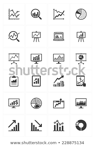 Graph On Computer Monitor Financial Vector Icon Stock photo © pikepicture