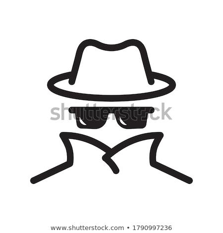 Identitätsdiebstahl Symbol Vektor Gliederung Illustration Zeichen Stock foto © pikepicture