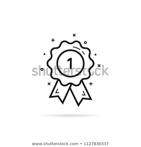Winning Medal for 1st Place Icon Vector Outline Illustration Stock photo © pikepicture
