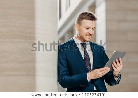 Zawodowych mężczyzna CEO elegancki garnitur bankowego Zdjęcia stock © vkstudio