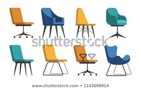 コレクション 異なる オフィス チェア 孤立した 白 ストックフォト © DeCe