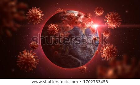 Koronavírus körül világ fekete vészhelyzet vírus Stock fotó © Kotenko