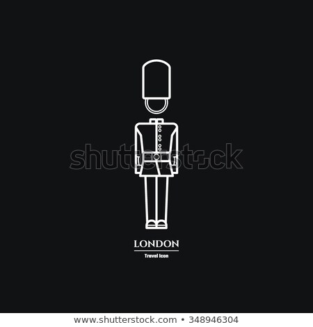 royal guard icon vector outline illustration Stock photo © pikepicture