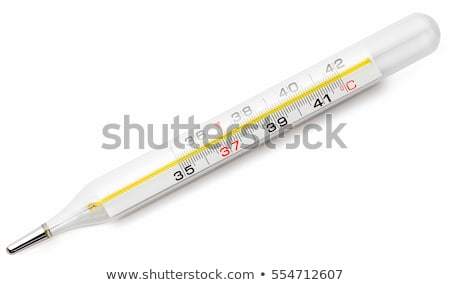 Medical mercury thermometer isolated on white stock photo © inxti