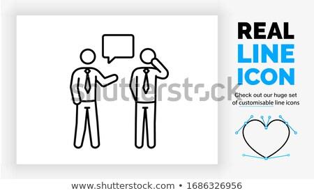 Zakenman collega's vector teamwerk gesprek Stockfoto © robuart