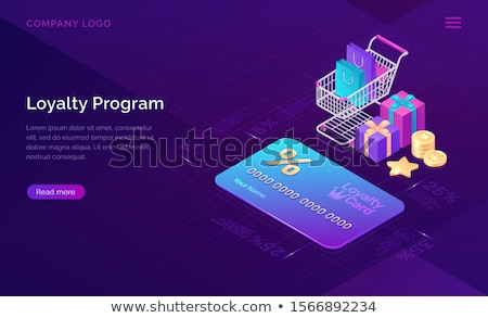 Loyaliteit belonen programma kaart persoon portemonnee Stockfoto © AndreyPopov