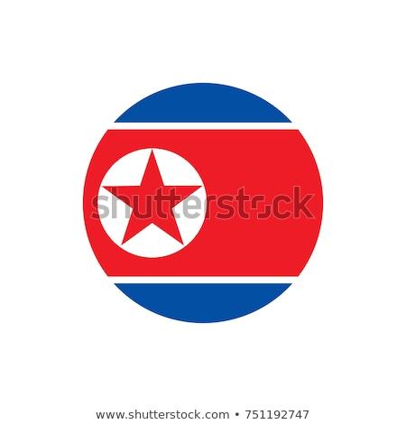 North Korea flag, vector illustration on a white background Stock photo © butenkow