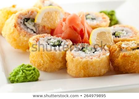 Sushi maki croccante piatto fresche Foto d'archivio © boggy