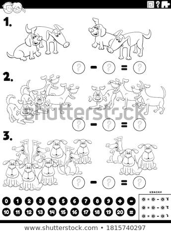 Educativo compito animali colore libro Foto d'archivio © izakowski