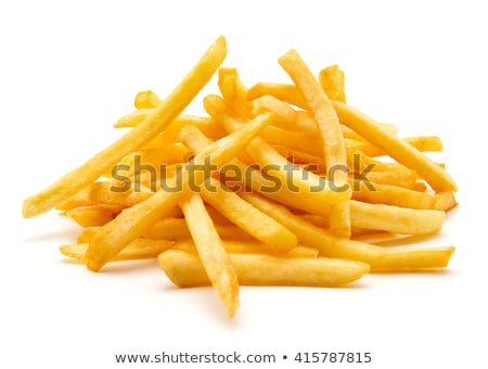 французский хрустящий картофеля фри Top мнение Сток-фото © karandaev