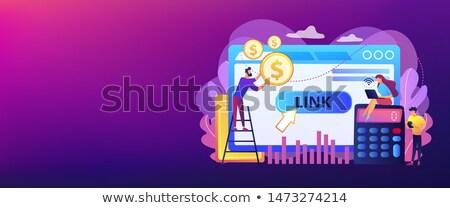 Költség által felvásárlás modell szalag fejléc Stock fotó © RAStudio